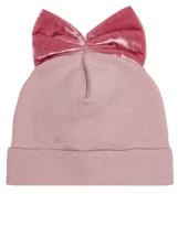 Federica Moretti Bow-detail velvet beanie hat