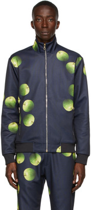 Paul Smith 50th Anniversary Navy and Green Apple Bomber Jacket