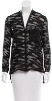 Helmut Lang Patterned Leather-Accented Top w/ Tags
