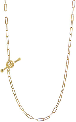Cathy Waterman 16 Inch Spanish Chain Yellow Gold Necklace