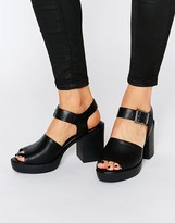 London Rebel Chunky Heeled Sandal