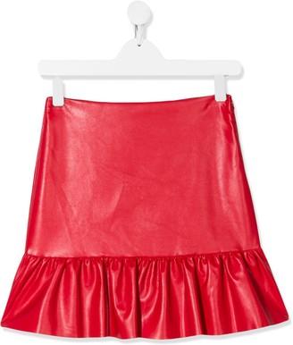 Philosophy Di Lorenzo Serafini Kids TEEN frill-trim fitted skirt