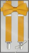 Tuxedo Park Black Silk Bow Tie & Suspender Set