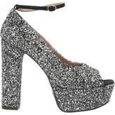 L'Autre Chose Silver Leather Heels