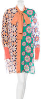 Jonathan Saunders Silk-Blend Printed Dress