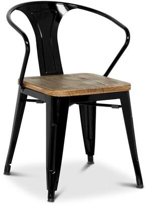 Apt2B Grand Metal Arm Chair BLACK - SET OF 4