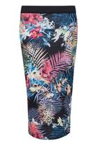 Select Fashion Fashion Womens Multi Tropical Print Midi Skirt - size 6