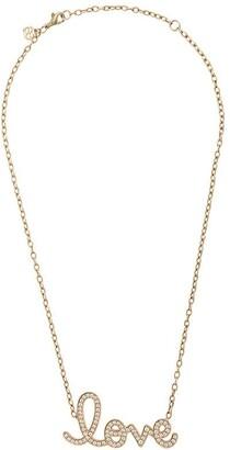 Sydney Evan 14kt Gold Large Pave Love Necklace