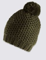 Marks and Spencer Textured Bobble Winter Hat
