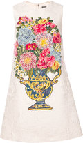 Dolce & Gabbana jacquard embroidered flowers dress - women - Silk/Cotton/Spandex/Elastane - 40
