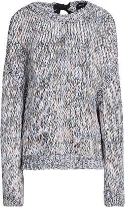 Rochas Tie-back Marled Open-knit Cotton Sweater