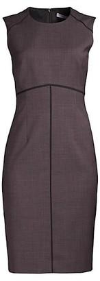 HUGO BOSS Difana Minidessin Stretch Wool Blend Sheath Dress