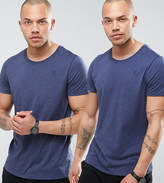 G Star T-Shirt In 2 Pack Navy