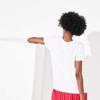 Lacoste Women's SPORT Graphic Print Cotton T-shirt