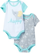 Boppy Elephant Bodysuit - Set of 2 (Baby Boys)