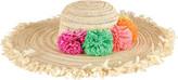 San Diego Hat Company Women's Paperbraid Multi Color Pom Floppy Hat PBL3074
