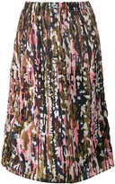 Marni haze print midi skirt - women - Silk - 38