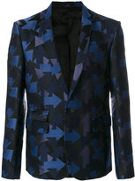 Les Hommes arrow embroidered blazer