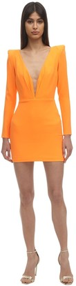 Alex Perry Envers Satin Crepe Mini Dress