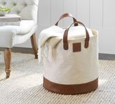 Pottery Barn Carlo Canvas & Leather Tote