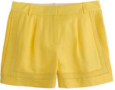 J.Crew Linen lace-trim short