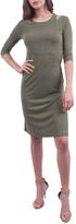 Everly Olive Shoulder Dress