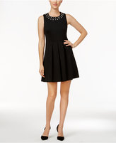 Charter Club Petite Embellished Fit & Flare Dress, Only at Macy's