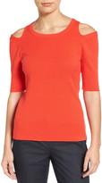 Halogen Cold Shoulder Sweater (Regular & Petite)