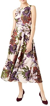 Hobbs London Carly Floral Fit-and-Flare Dress