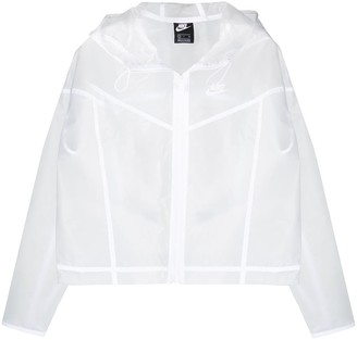 Nike Logo Print Sheer Jacket