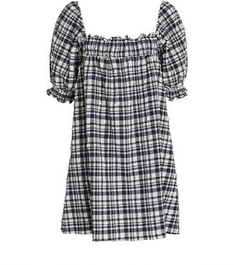 Solid & Striped Seersucker Babydoll Dress