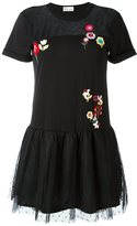 RED Valentino floral embroidery flared dress