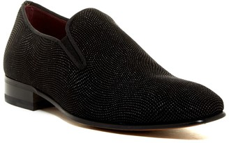 Mezlan Leather Micro-Studded Loafer