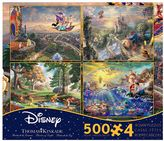 Disney Dreams 1 Thomas Kinkade 500-piece Jigsaw Puzzle 4-piece Set