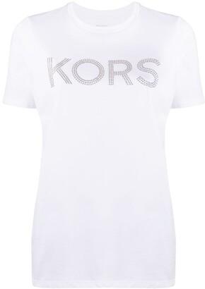 MICHAEL Michael Kors crystal embellished logo T-shirt