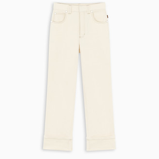 Chloé White straight-fit jeans