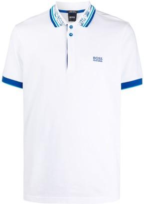 HUGO BOSS Contrasting Collar Polo Shirt