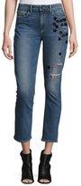 Paige Jacqueline Star-Appliqué Cropped Straight-Leg Jeans, Jupiter Embellished