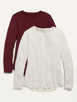 Old Navy Luxe Long-Sleeve Tee 2-Pack for Women