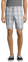 Original Penguin Plaid Flat Front Shorts