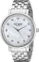 Kate Spade Women's 1YRU0820 Monterey Analog Display Japanese Quartz Silver Watch