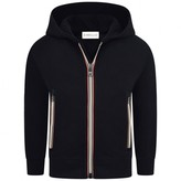 Moncler MonclerBoys Navy Zip Up Top With Signature Striped Zips