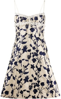 Brock Collection Embroidered Flared Dress