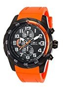 Invicta Men's 'Pro Diver' Quartz Stainless Steel and Silicone Watch, Color:Orange (Model: 21948)