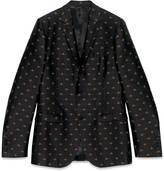 Gucci Monaco bee jacquard jacket