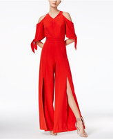 XOXO Juniors' Cold-Shoulder Wide-Leg Jumpsuit