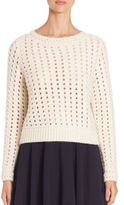 Chloé Cropped Waffle-Knit Sweater