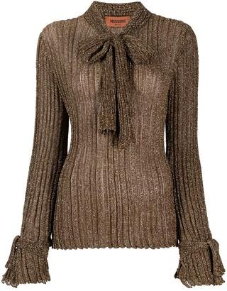 Missoni bow-detail ribbed knit jumper