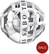 Thomas Sabo Sterling Silver Branded Globe Karma Bead