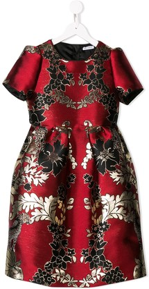 Dolce & Gabbana Kids Floral Jacquard Dress